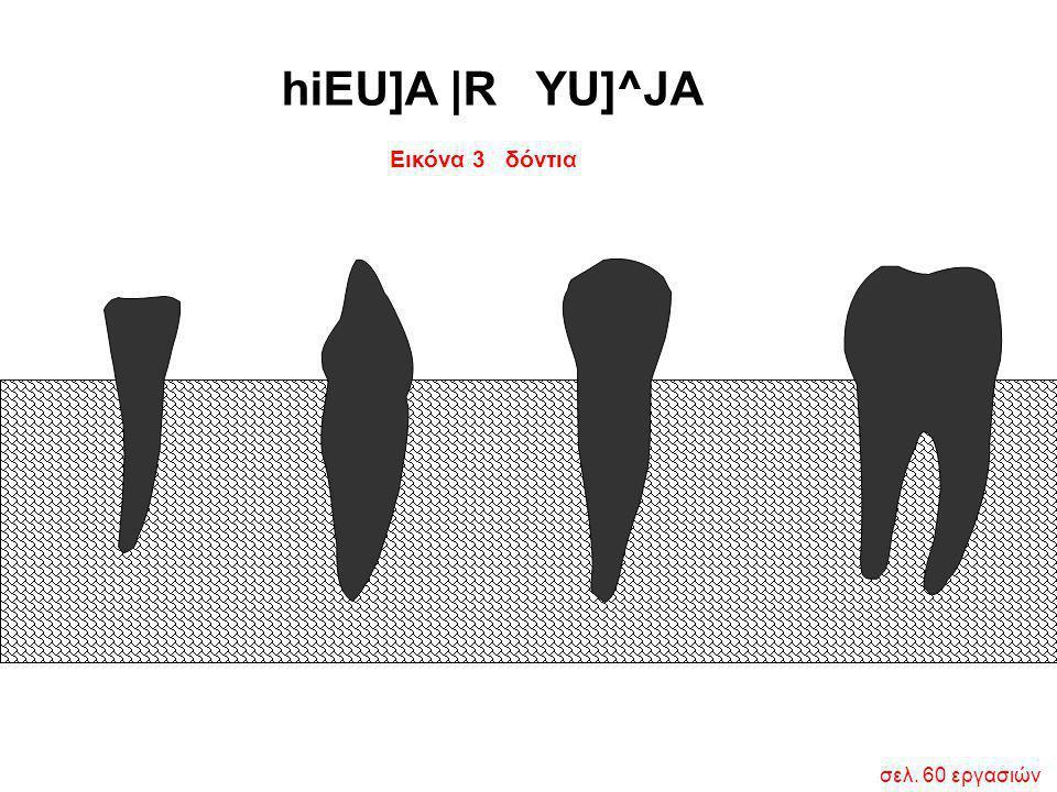 hiEU]A |R YU]^JA Εικόνα 3 δόντια σελ. 60 εργασιών